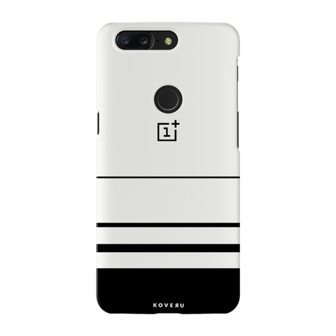 White Horizon Stripes Cover Case For OnePlus 5T