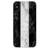B&W Marble Stripes Cover Case For iPhone X
