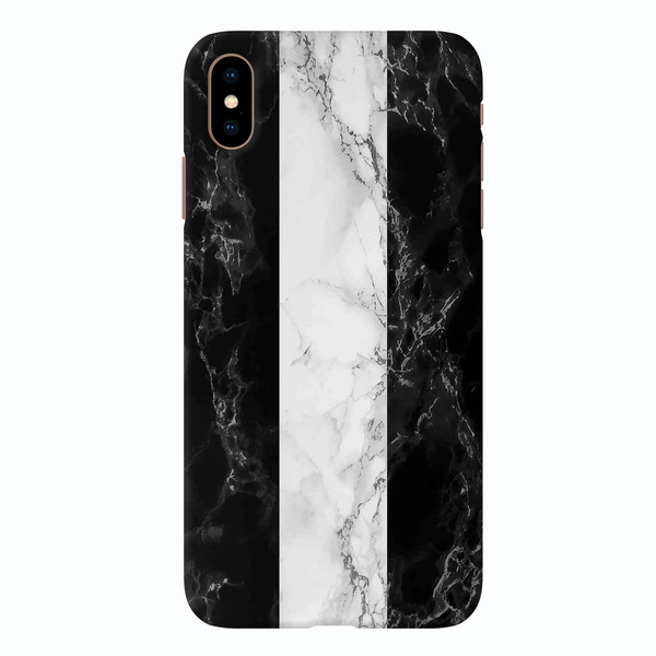 B&W Marble Stripes Cover Case For iPhone XS Max