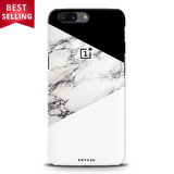 Geometric White Marble Textured Cover Case For OnePlus 5