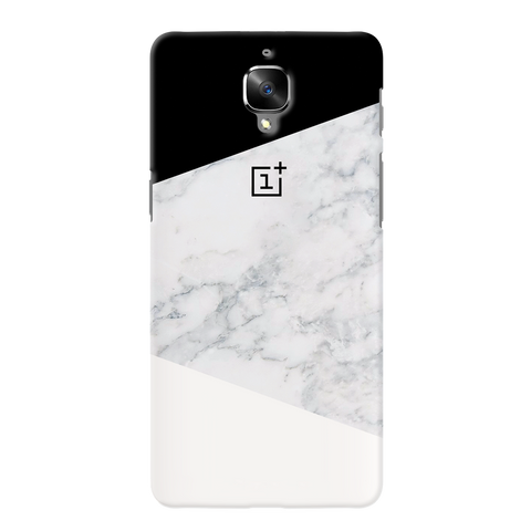 Geometric White Marble Cover Case For OnePlus 3/3T