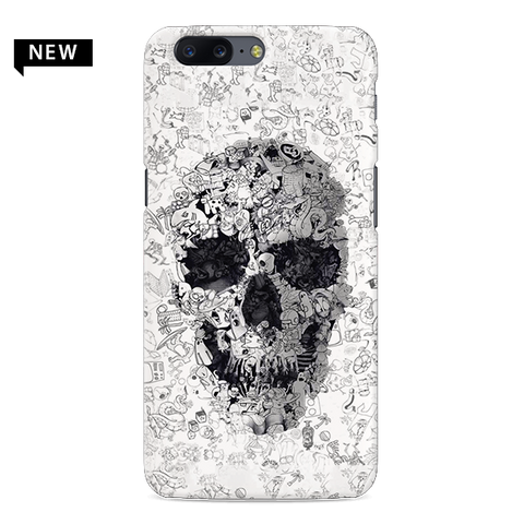 Skull Doodle Cover Case For OnePlus 5