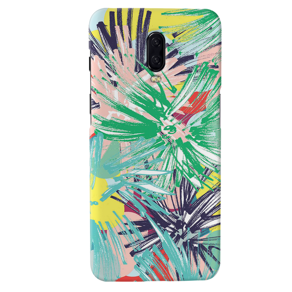 Graphic Floral Case Cover for OnePlus 6T