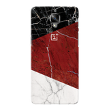 Red Geometric Marble Cover Case For OnePlus 3/3T