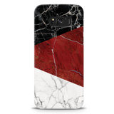 Red Geometric Marble Cover Case For Samsung  Galaxy S8 Plus