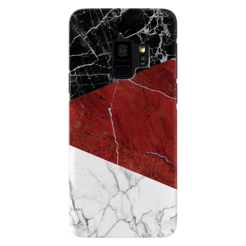 Red Geometric Marble Cover Case For Samsung Galaxy S9