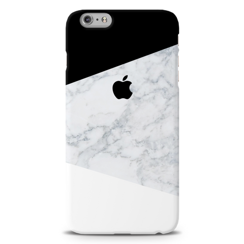 Geometric White Marble Cover Case For iPhone 6/6S Plus