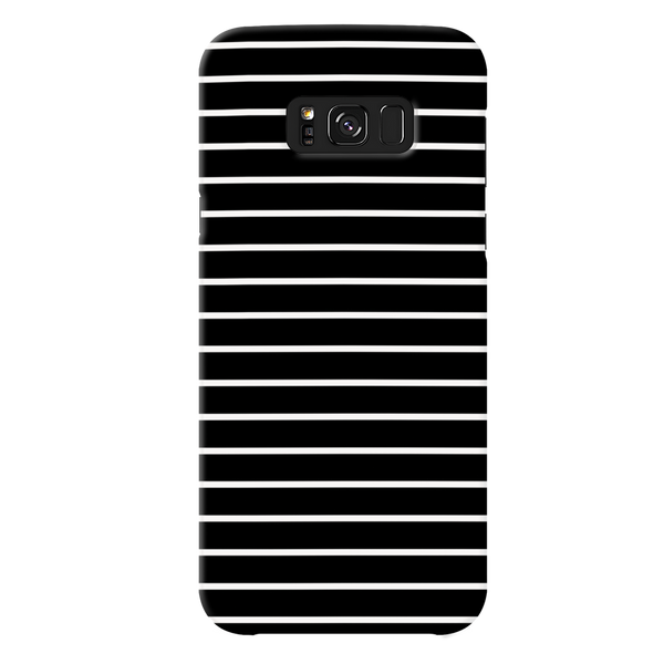 White Stripes On Black Cover Case For Samsung Galaxy S8