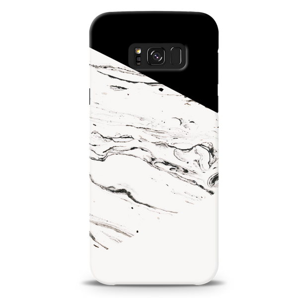 Geometric White Marble Textured Cover Case For Samsung Galaxy S8