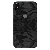 Black Patterned Camouflage Cover Case For iPhone XS