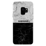 Grey & Black Marble Cover Case For Samsung Galaxy S9