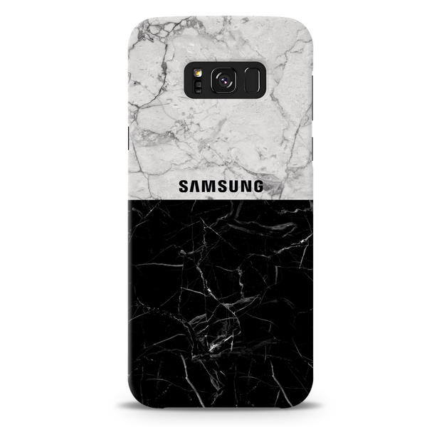 Grey & Black Marble Cover Case For Samsung Galaxy S8