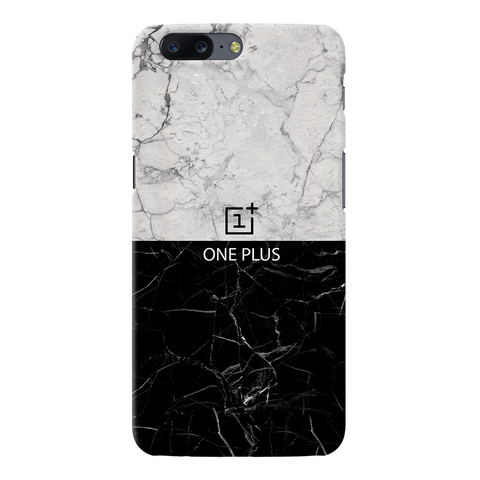 Grey & Black Marble Cover Case For OnePlus 5
