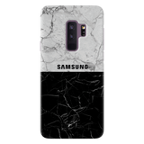 Grey & Black Marble Cover Case For Samsung Galaxy  S9 Plus