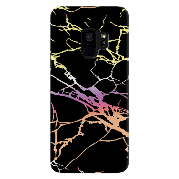 Dramatic black Marble Cover Case For Samsung Galaxy S9