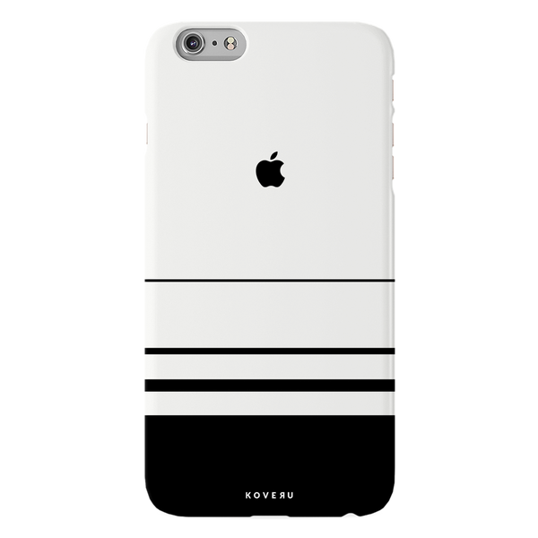 White Horizon Stripes Cover Case For iPhone 6/6S Plus