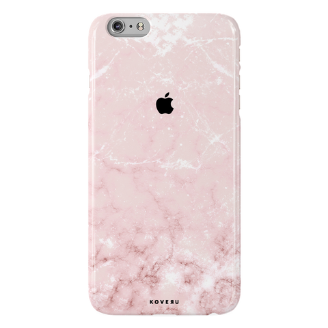 Baby Pink Marble Cover Case For iPhone 6/6S Plus