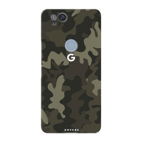 Brown Abstract Camouflage Cover Case For Google Pixel 2