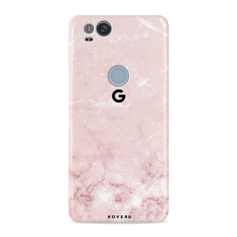 Baby Pink Marble Cover Case For Google Pixel 2