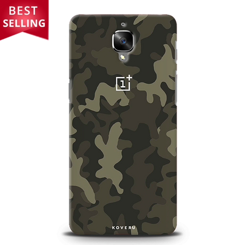 Brown Abstract Camouflage Cover Case For OnePlus 3/3T
