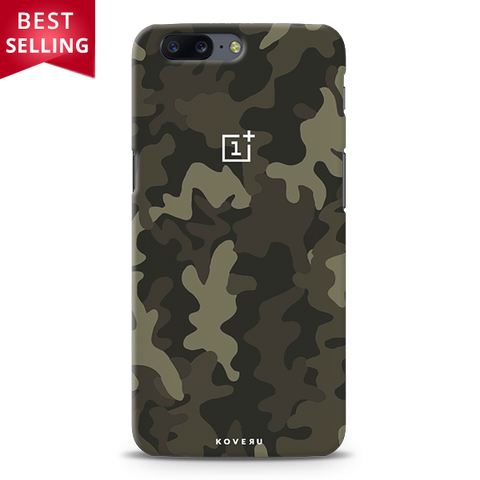 Brown Abstract Camouflage Cover Case For OnePlus 5