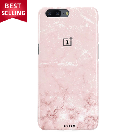 Baby Pink Marble Cover Case For OnePlus 5