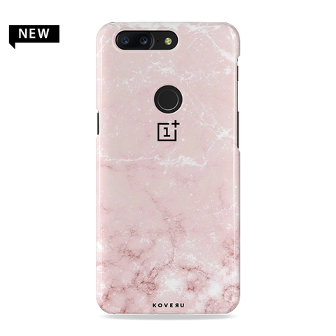 Baby Pink Marble Cover Case For OnePlus 5T