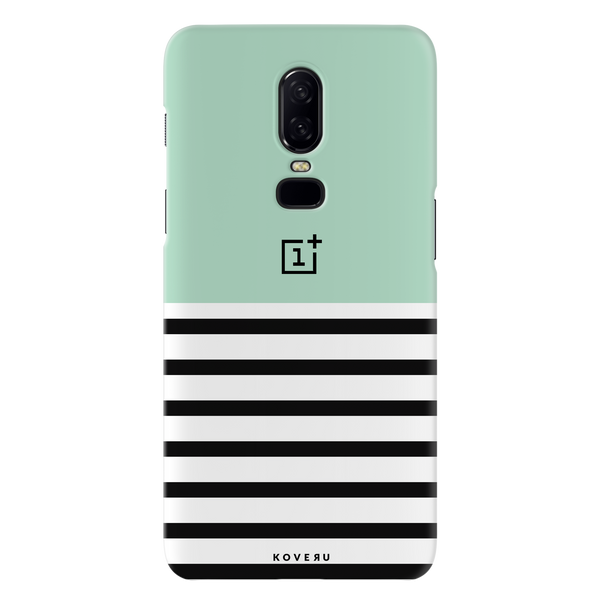 Stripes on Green Cover Case For OnePlus 6