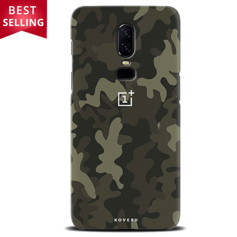 Brown Abstract Camouflage Cover Case For OnePlus 6