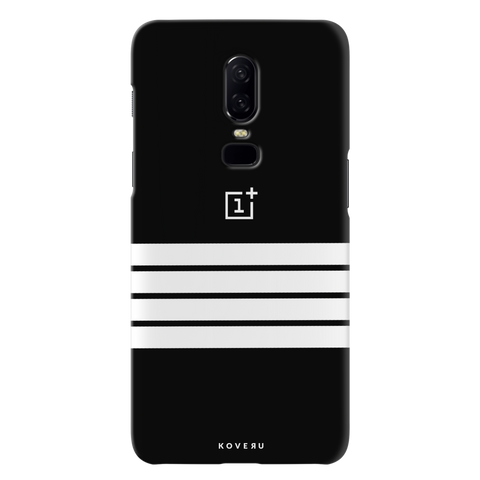 White Stripes Cover Case For OnePlus 6