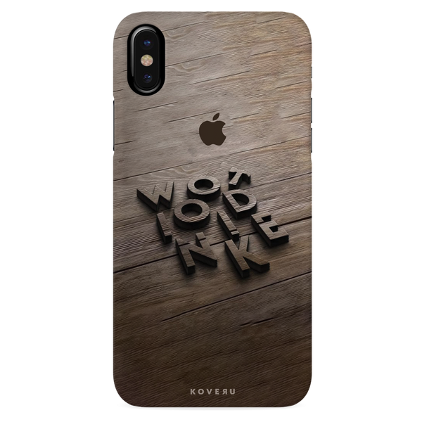 Wooden WOT Cover Case For iPhone XS