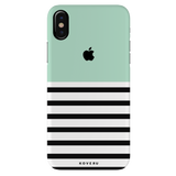 Stripes on Green Cover Case for iPhone XS