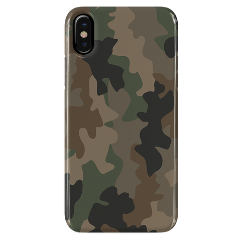 Army Abstract  Camouflage Cover Case For iPhone XS