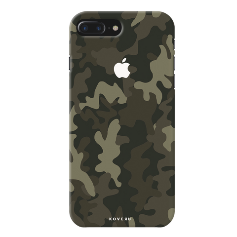 Brown Abstract Camouflage  Cover Case For iPhone 7/8 Plus