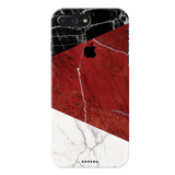 Red Geometric Marble Cover Case For iPhone 7/8 Plus