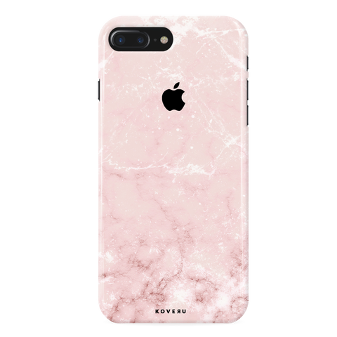 Baby Pink Marble Cover Case For iPhone 7/8 Plus