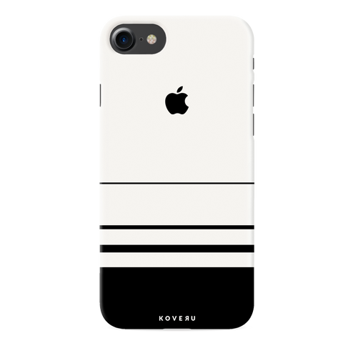 White Horizon Stripes Cover Case For iPhone 7/8