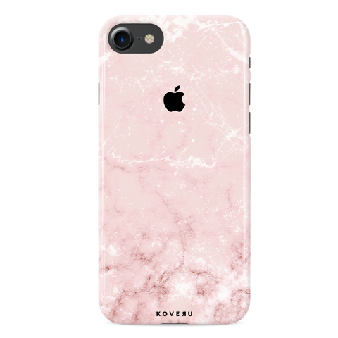 Baby Pink Marble Cover Case For iPhone 7/8