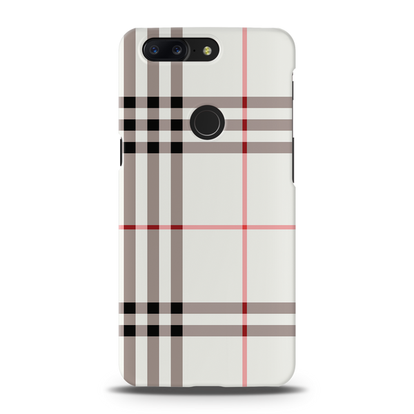Brown Check Design Cover Case For OnePlus 5T