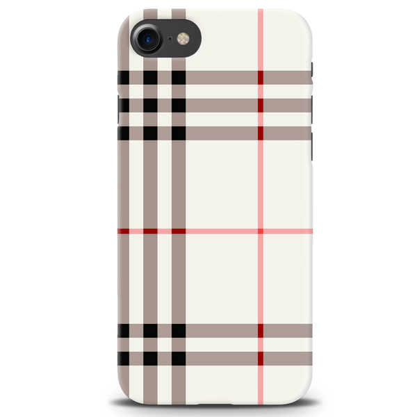 Brown Check Design Cover Case For iPhone 7/8
