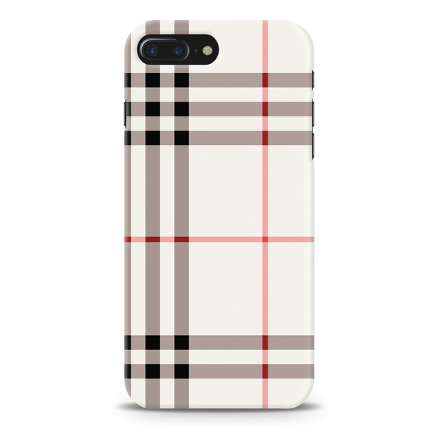 Brown Check Design Cover Case For iPhone 7/8 Plus