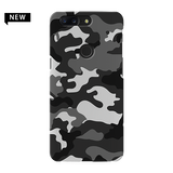 Black Abstract Camouflage Cover Case For OnePlus 5T