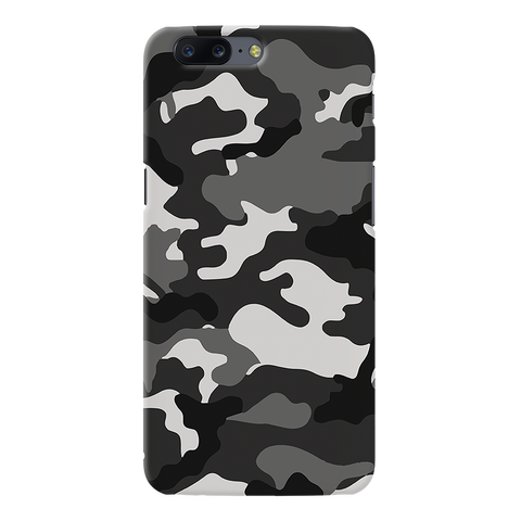 Black Abstract Camouflage Cover Case For OnePlus 5