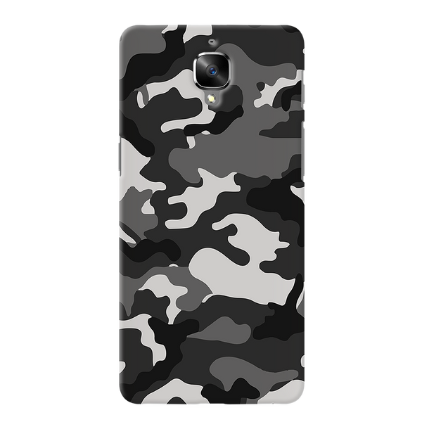 Black Abstract Camouflage Cover Case For OnePlus 3/3T