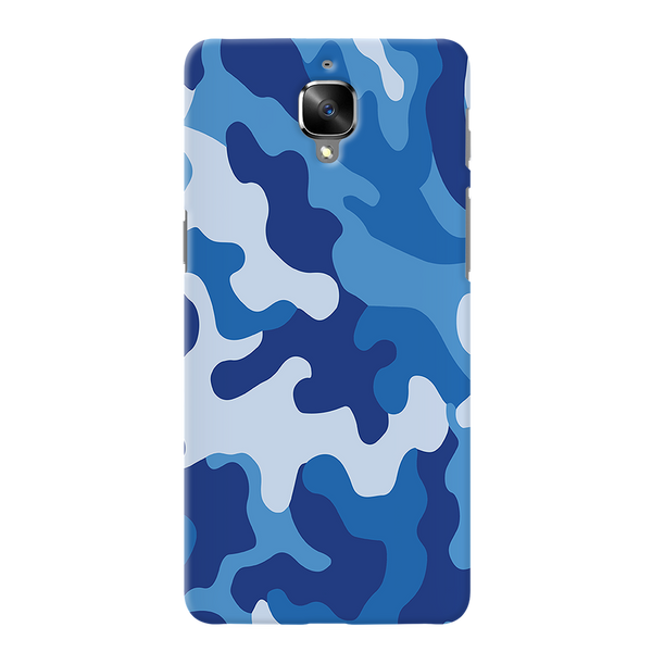 Blue Abstract Camouflage Cover Case For OnePlus 3/3T