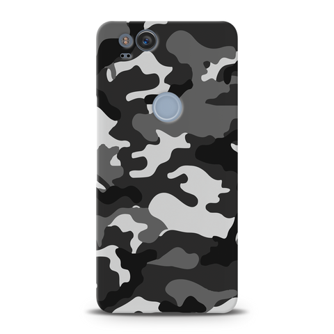 Black Abstract Camouflage Cover Case For Google Pixel 2