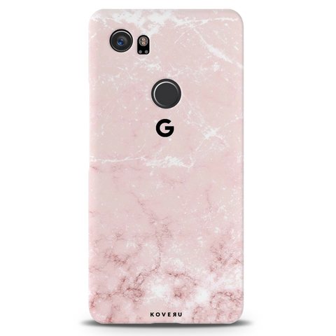 Baby Pink Marble Cover Case For Google Pixel 2 XL