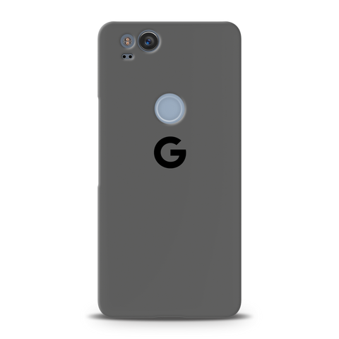 Grey Back Cover Case For Google Pixel 2