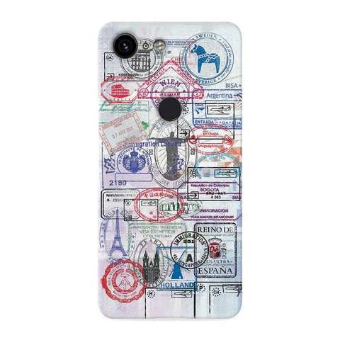 Stamp Cover Case for Google Pixel 3 XL