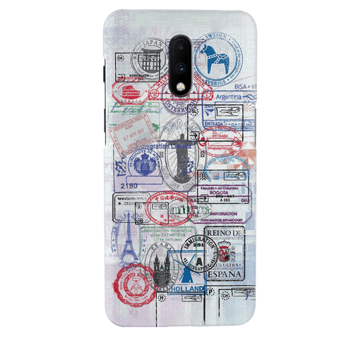 Stamp Cover Case for OnePlus 7